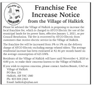 Franchise Fee Increase Notice